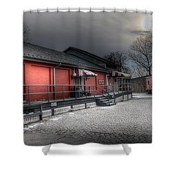 Staunton Va Train Depot Shower Curtain by Todd Hostetter