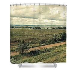 Stausee Kelbra  #nature  #flowers Shower Curtain by Mandy Tabatt