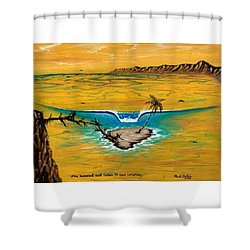 Listen To Your Intuition  Shower Curtain