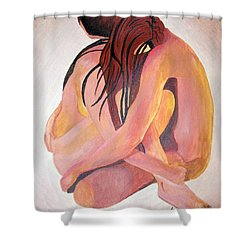 Staying In Touch Shower Curtain by Tracey Harrington-Simpson
