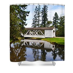 Stayton-jordon Covered Bridge Shower Curtain