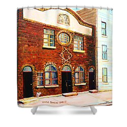 St.dominique Street Synagogue Shower Curtain by Carole Spandau