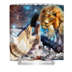 Steadfast Gaze Shower Curtain by Dolores Develde