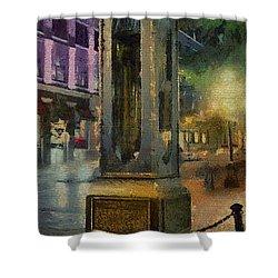 Steam Clock Gastown Shower Curtain