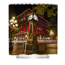 Steam Clock In Historic Gastown Vancouver Bc Shower Curtain