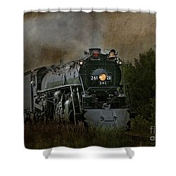 Shower Curtain featuring the photograph Steam Engine 261 by Clare VanderVeen