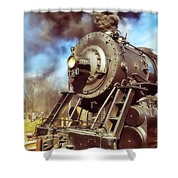 Steam Engine Shower Curtain