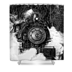 Steam Engine Jan 2016 In Hdr Shower Curtain