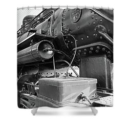 Shower Curtain featuring the photograph Steam Locomotive Side View by Doug Camara