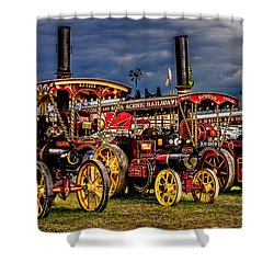 Shower Curtain featuring the photograph Steam Power by Chris Lord