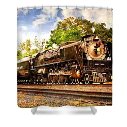 Shower Curtain featuring the photograph Steam Power by Marty Koch