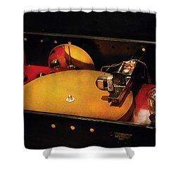 Steam Punk - Hey Dj Make Some Noise Cine-music System Shower Curtain by Mike Savad