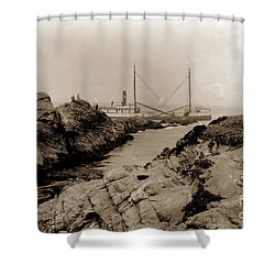 Steam Schooner S S J. B. Stetson, Ran Aground At Cypress Point, Sep. 1934 Shower Curtain by California Views Mr Pat Hathaway Archives