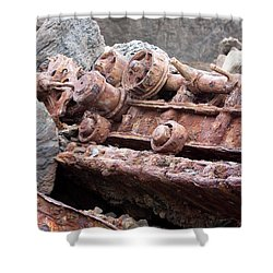 Steam Shovel Number Four Shower Curtain by Kandy Hurley