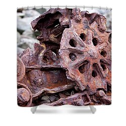 Steam Shovel Number Two Shower Curtain by Kandy Hurley