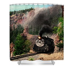 Shower Curtain featuring the photograph Steam Through The Rock Formations by Ken Smith