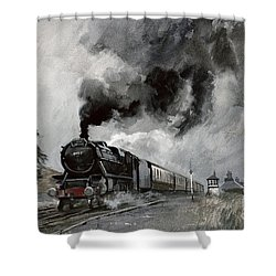 Steam Train At Garsdale - Cumbria Shower Curtain by John Cooke