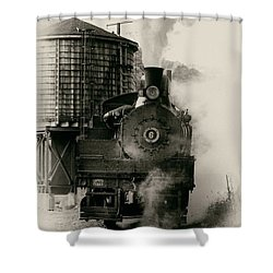 Steam Train Shower Curtain by Jerry Fornarotto