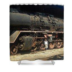 Steam Train  Shower Curtain by Pierre Van Dijk