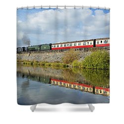 Steam Train Reflections Shower Curtain