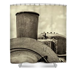 Shower Curtain featuring the photograph Steam Train Series No 2 by Clare Bambers