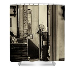 Shower Curtain featuring the photograph Steam Train Series No 33 by Clare Bambers