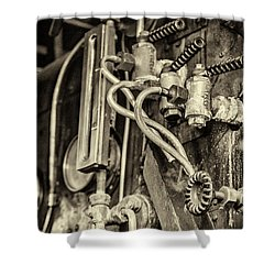 Shower Curtain featuring the photograph Steam Train Series No 36 by Clare Bambers