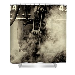 Shower Curtain featuring the photograph Steam Train Series No 4 by Clare Bambers