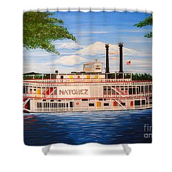 Steamboat On The Mississippi Shower Curtain