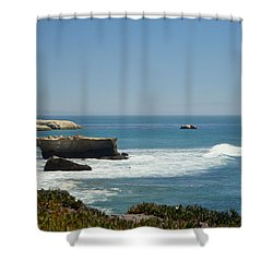 Steamer Lane, Santa Cruz Shower Curtain