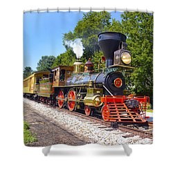 Steaming Into History Shower Curtain