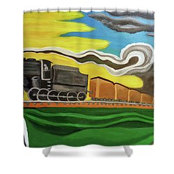 Steaming West Bound Shower Curtain