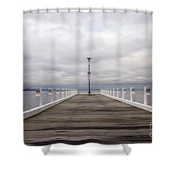 Shower Curtain featuring the photograph Steampacket Quay by Linda Lees