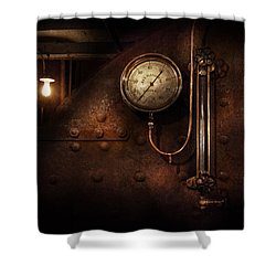 Steampunk - Boiler Gauge Shower Curtain by Mike Savad