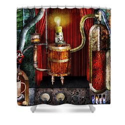Steampunk - Coffee Break Shower Curtain by Mike Savad