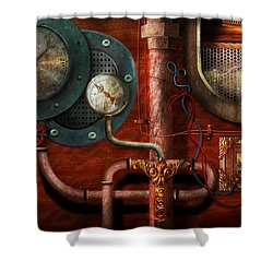 Steampunk - Controls Shower Curtain by Mike Savad