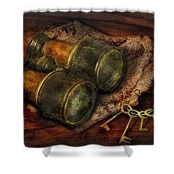 Steampunk - Extendo Optics  Shower Curtain by Mike Savad