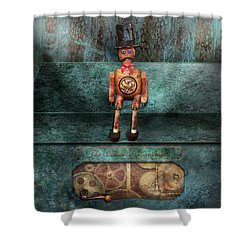 Steampunk - My Favorite Toy Shower Curtain by Mike Savad