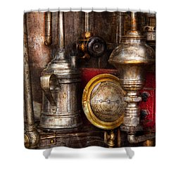 Steampunk - Needs Oil Shower Curtain by Mike Savad