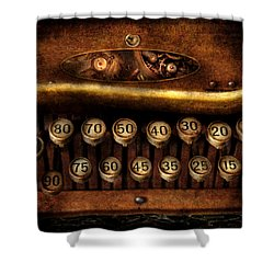 Steampunk - Remuneration Mechanism Shower Curtain by Mike Savad