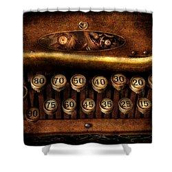 Steampunk - Remuneration Mechanism Shower Curtain by Mike Savad