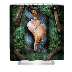 Steampunk - Sections  Shower Curtain by Mike Savad