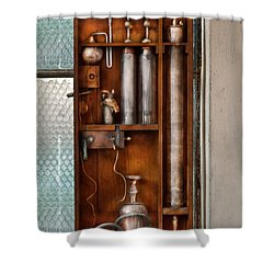 Steampunk - The Invention  Shower Curtain by Mike Savad