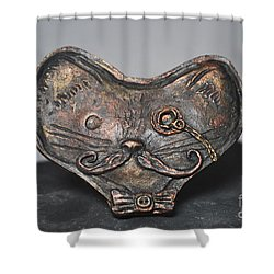 Steampunk Cat  Shower Curtain
