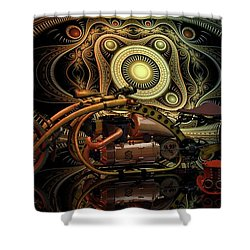 Steampunk Chopper Shower Curtain by Louis Ferreira