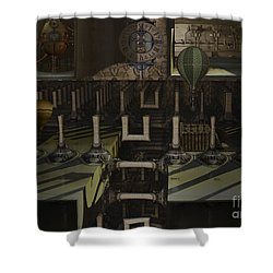 Steampunk Factory Shower Curtain by Melissa Messick