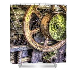 Steampunk Farming Shower Curtain
