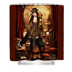 Steampunk Girl Shower Curtain