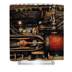 Steampunk - No 8431 Shower Curtain by Mike Savad