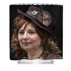 Steampunk Portrait Shower Curtain